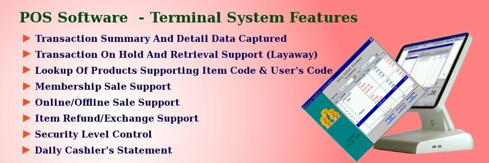 POS Terminal Software for Retail businesses